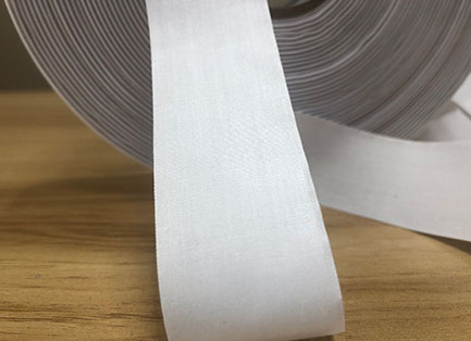 White stiff poly-cotton tape TC1550