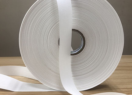 Offwhite stiff poly-cotton tape TC1530