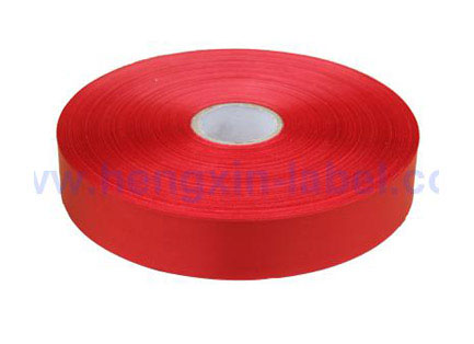 Single sided color polyester satin(red) PS702A2