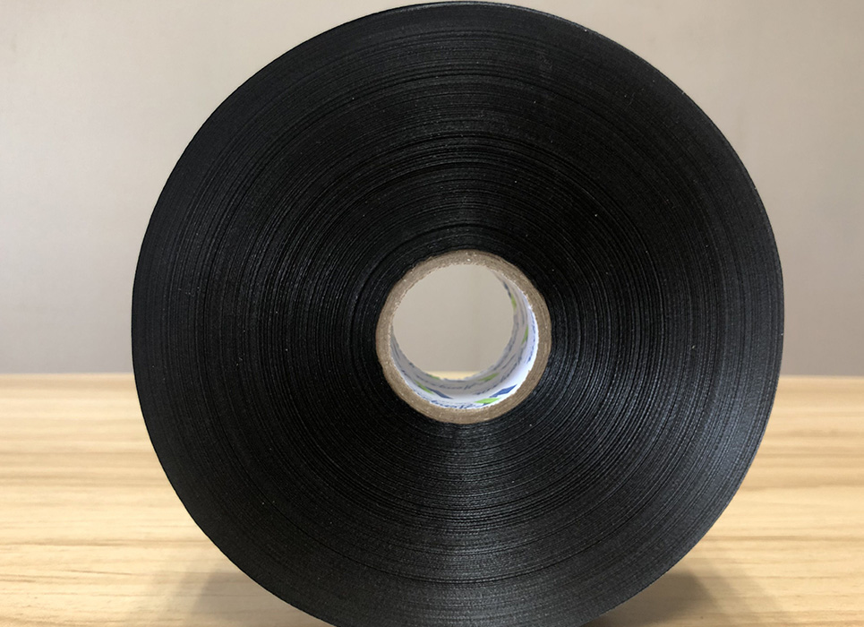 Polyurethane coated black polyester taffeta for thermal transfer printing PT134