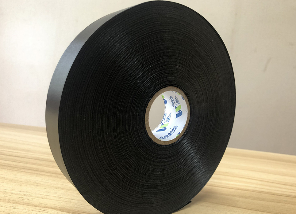 Double sided black polyester satin PS7255